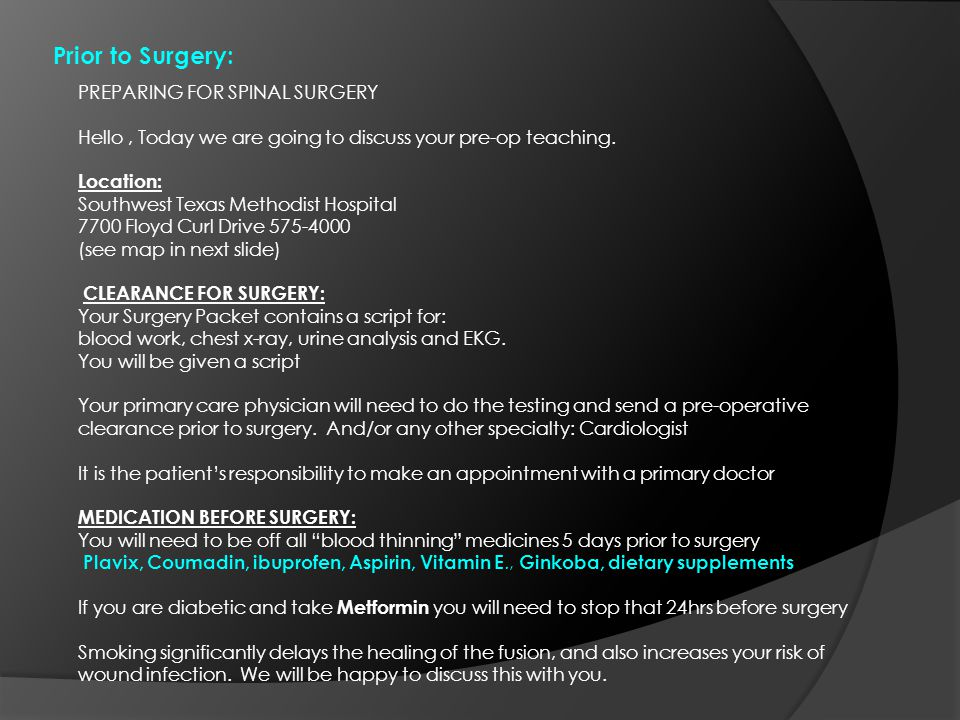 SPINAL SURGERY cont. Example of Cervical Fusion