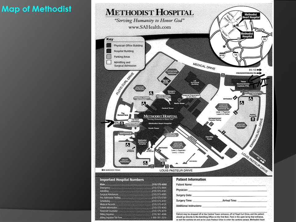 Map of Methodist