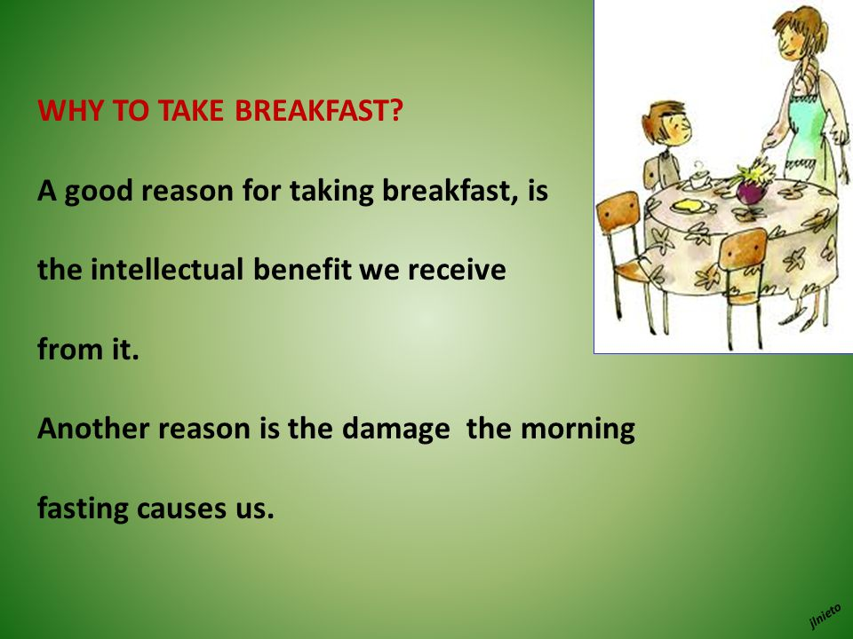 WHY TO TAKE BREAKFAST.