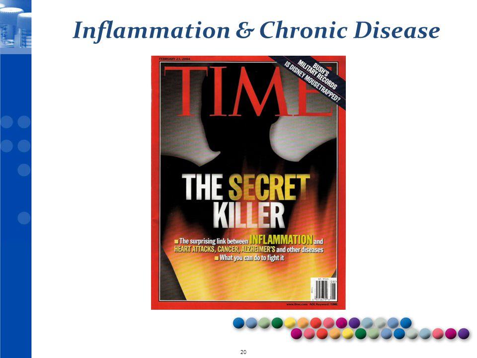 © 2010 20 Inflammation & Chronic Disease