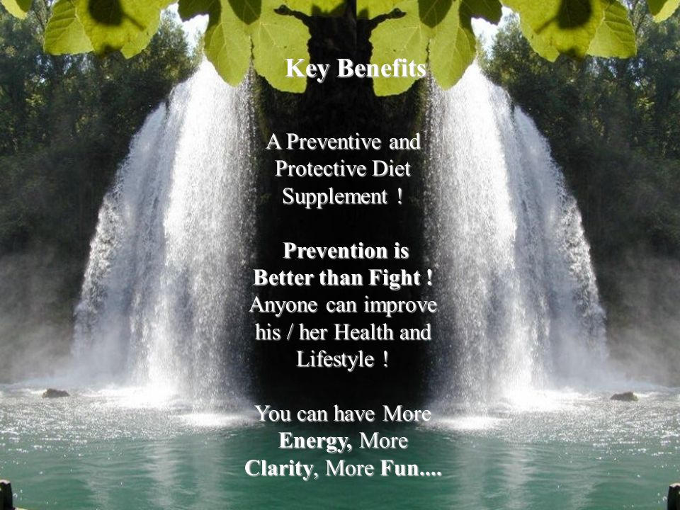 A Preventive and Protective Diet Supplement .Prevention is Prevention is Better than Fight .