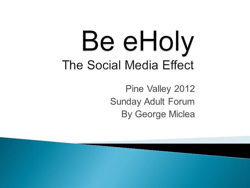 How is social media affecting the church.