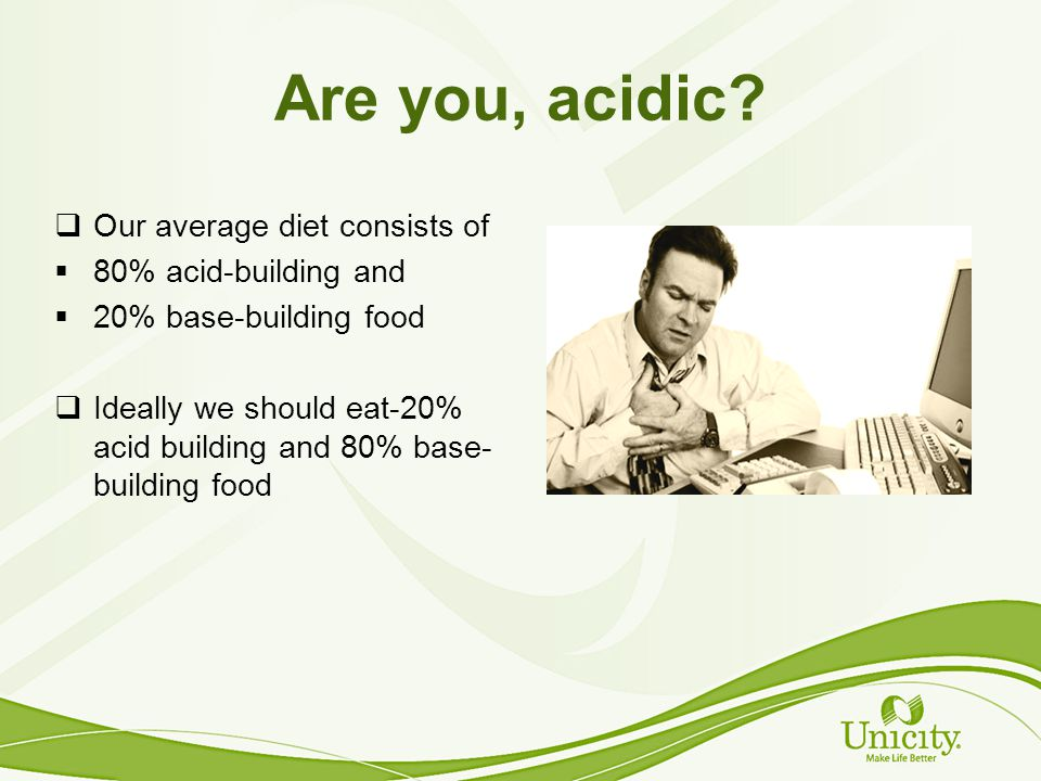 Are you, acidic.