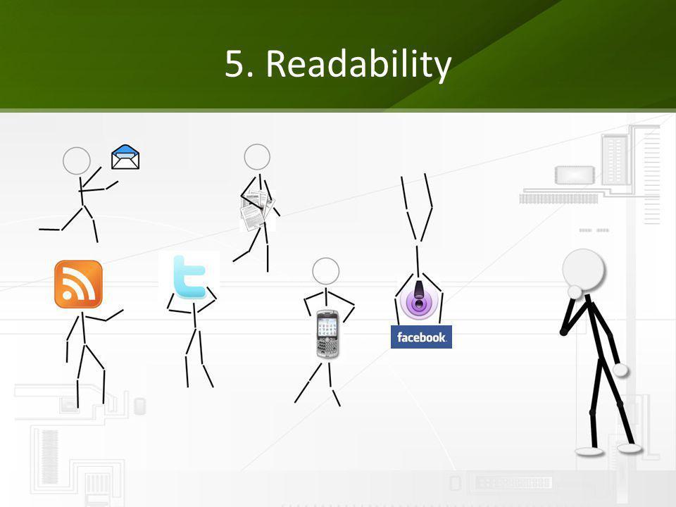 5. Readability