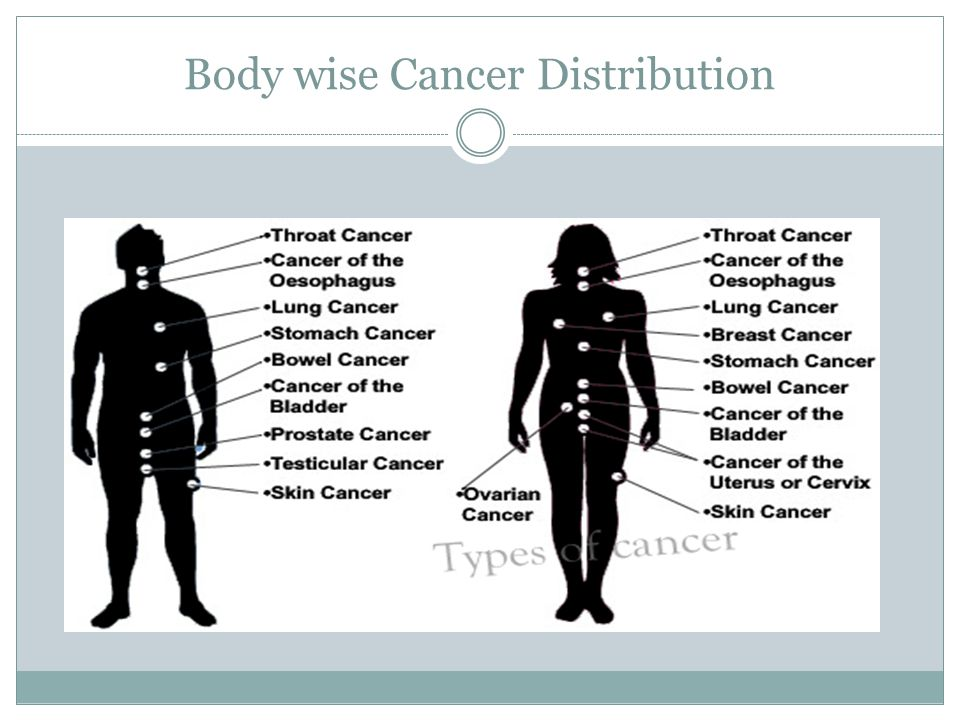 Body wise Cancer Distribution