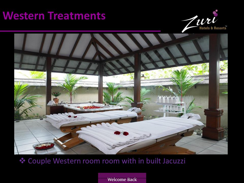 Western Treatments Couple Western room room with in built Jacuzzi