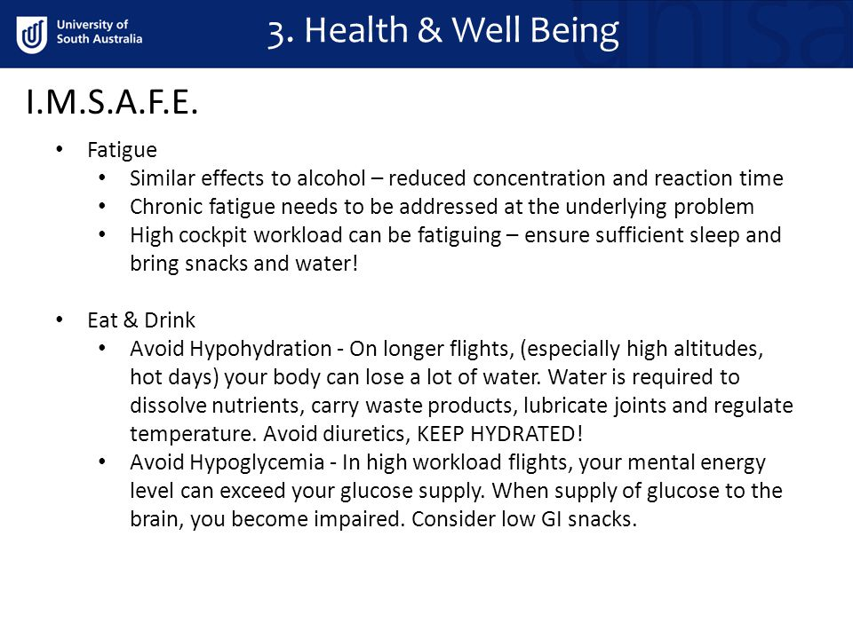 3. Health & Well Being I.M.S.A.F.E.