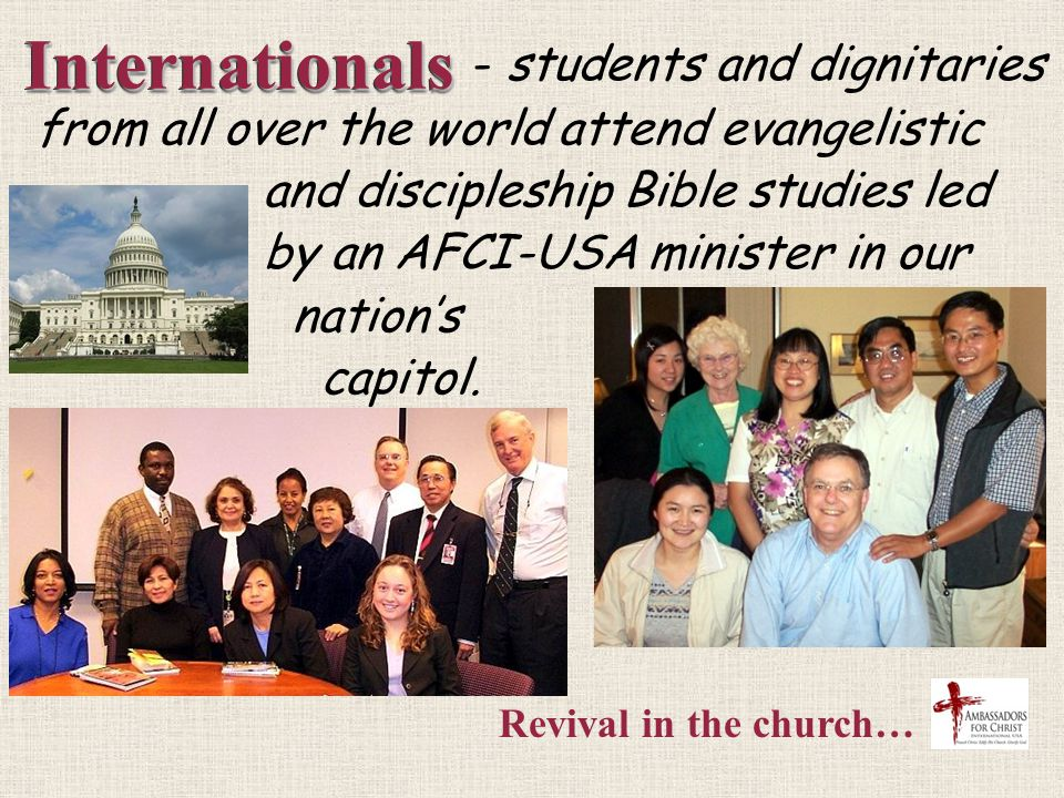 AFCI-USA ministers… AFCI-USA ministers… have trained native American pastors on the reservation.