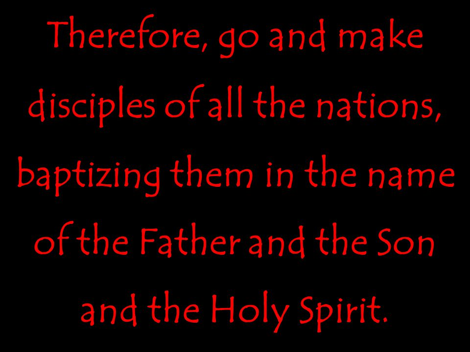 We ask GodWe ask God for the nations, which He promises in Christ.