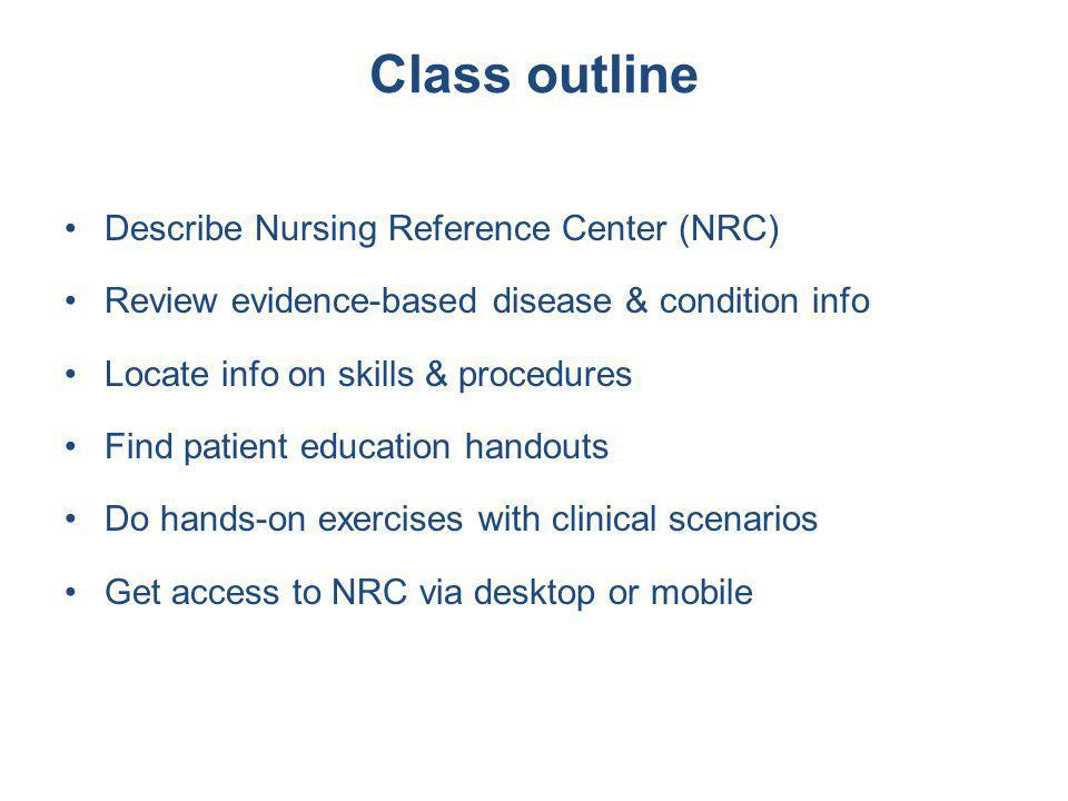 What is Nursing Reference Center.