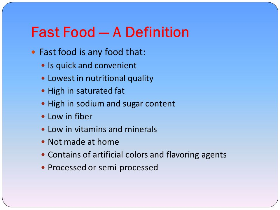 Objectives Study the fast food habits and preference of adolescents To compare present nutrient intake with RDA of ICMR to assess the nutritional status of adolescent girls Find out factors that leads adolescents to fast foods Determine the extent of fast food consumption Determine the awareness level of the health hazards of fast food consumption