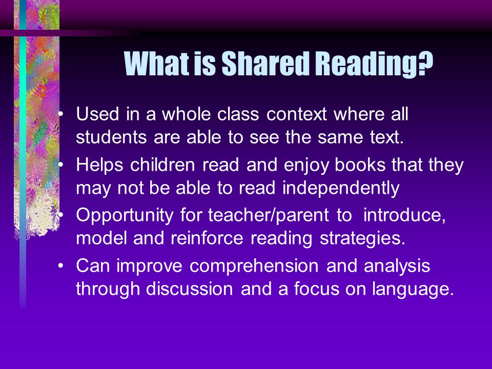 What is Shared Reading.