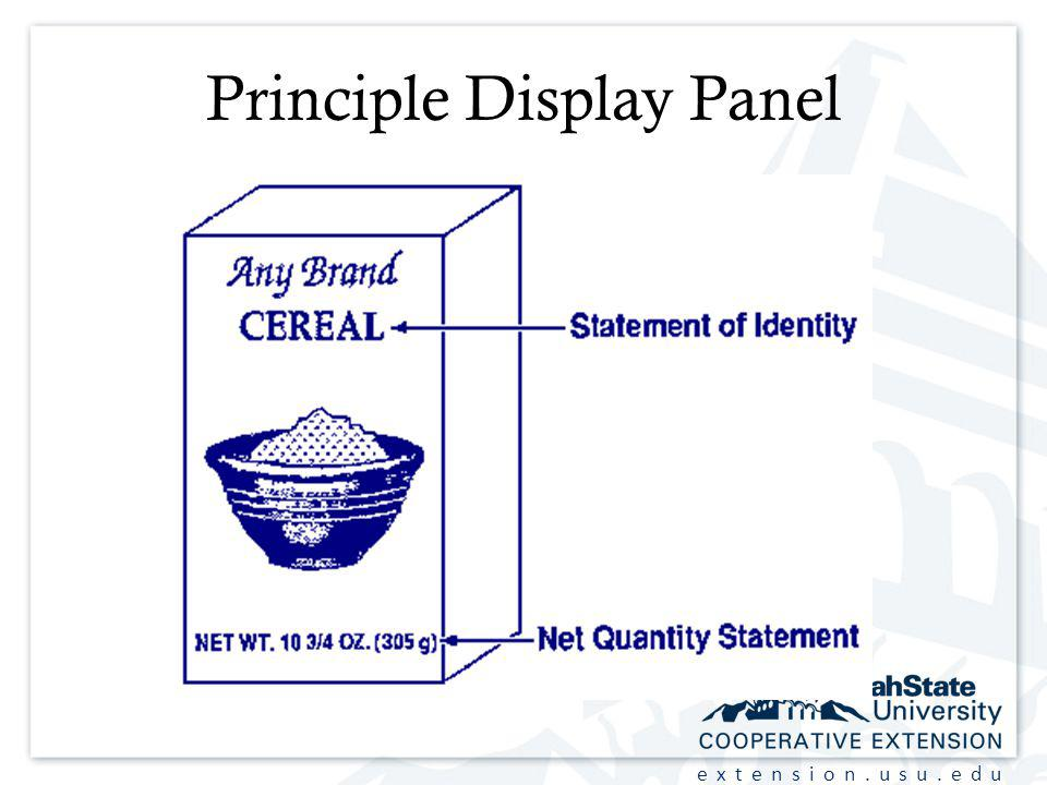 extension.usu.edu Principle Display Panel