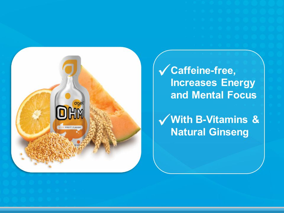 Caffeine-free, Increases Energy and Mental Focus With B-Vitamins & Natural Ginseng