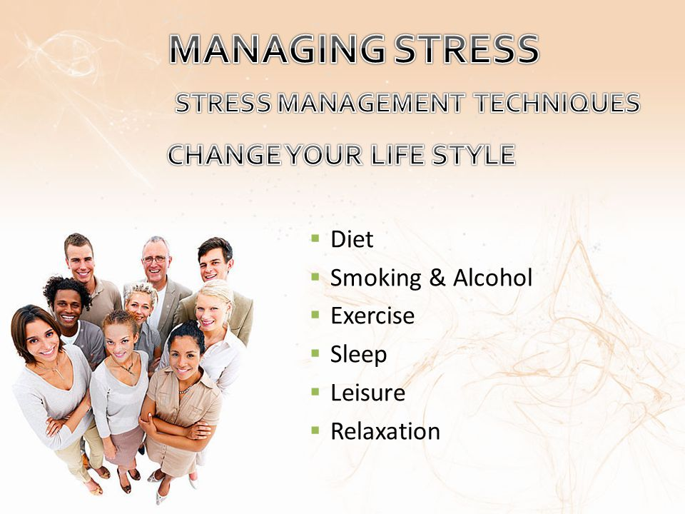 Diet Smoking & Alcohol Exercise Sleep Leisure Relaxation