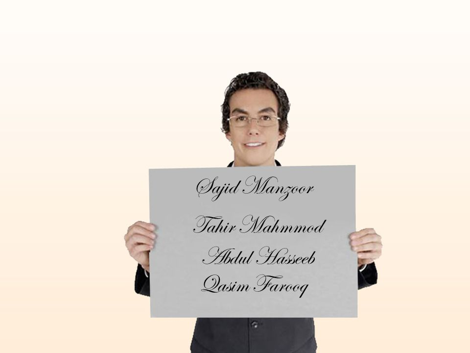 Sajid Manzoor Tahir Mahmmod Abdul Hasseeb Qasim Farooq