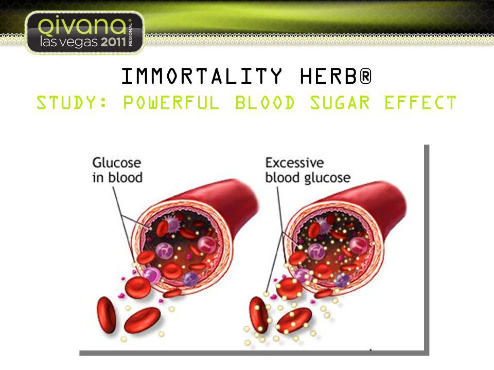 IMMORTALITY HERB® STUDY: POWERFUL BLOOD SUGAR EFFECT