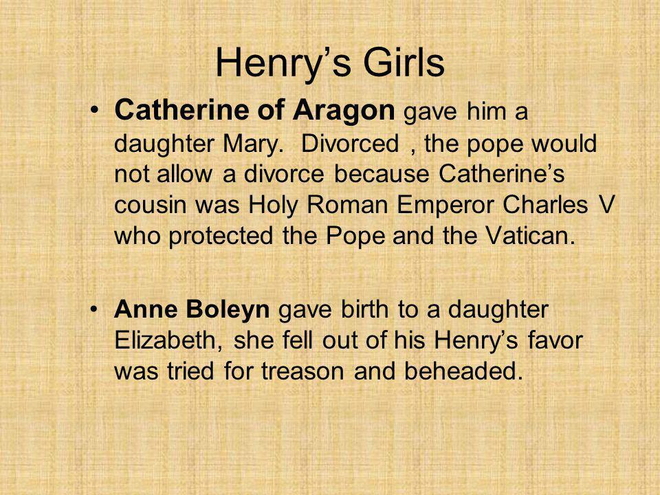 THE SIX WIVES OF HENRY VIII Catherine of Aragon Divorced33 Divorced Anne Boleyn Anne Boleyn m.