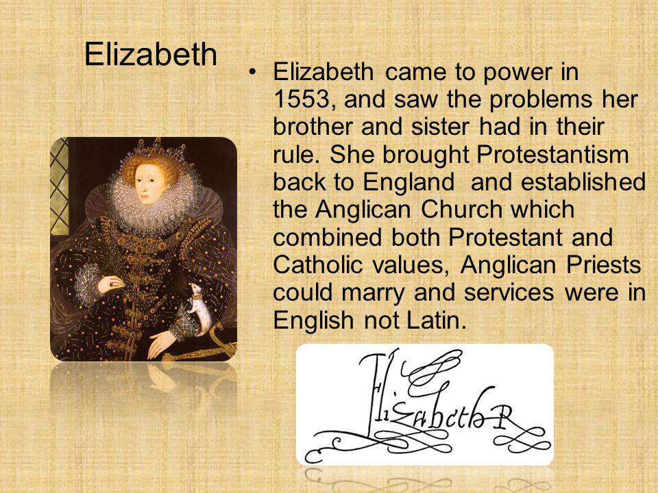 Mary Mary came to power in 1553 and being a Catholic had the English church returned to the rule of the Pope, angering many protestants and putting ma