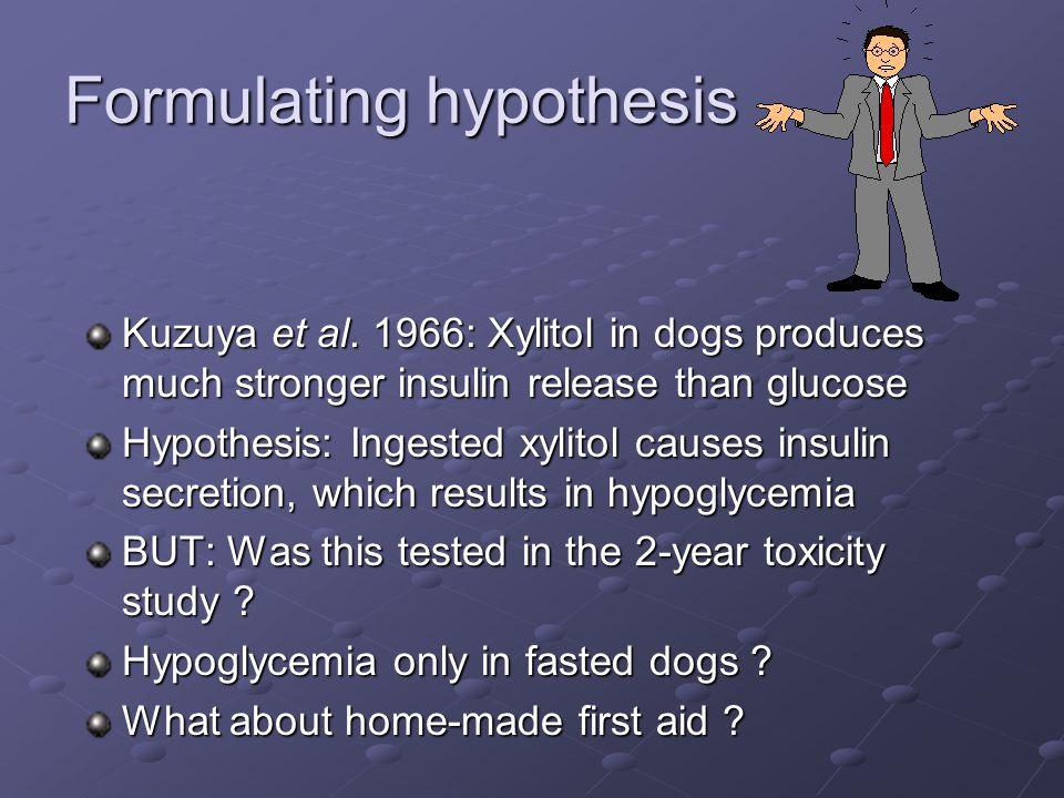 Formulating hypothesis Kuzuya et al.