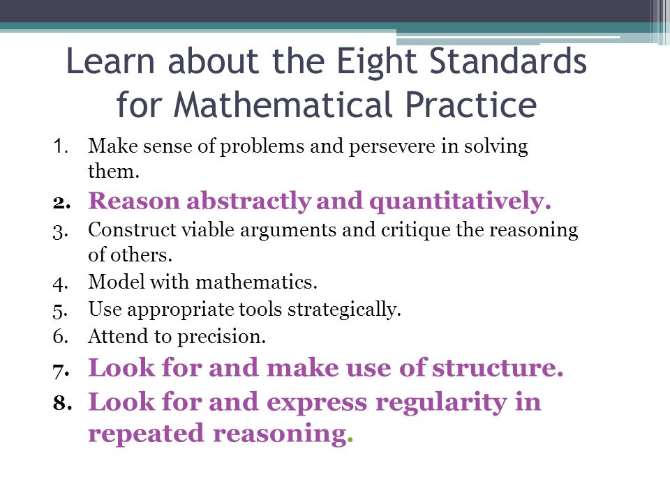 Participant Experience Do math and identify their own (and colleagues) use of the math practices 9 Growing Triangles