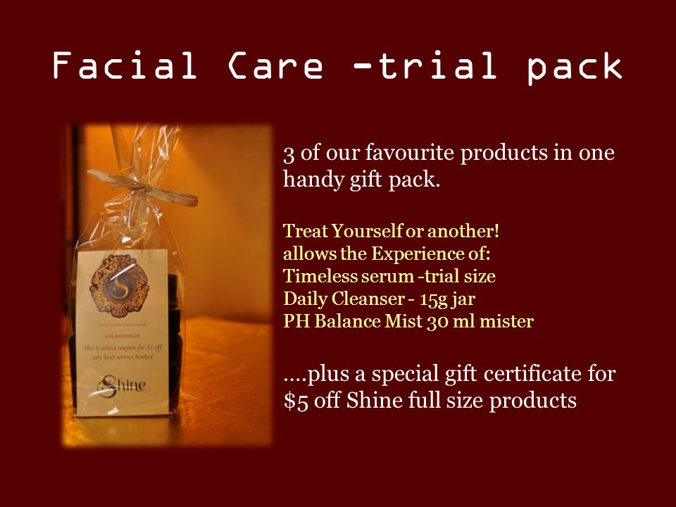 Facial Care -trial pack 3 of our favourite products in one handy gift pack.
