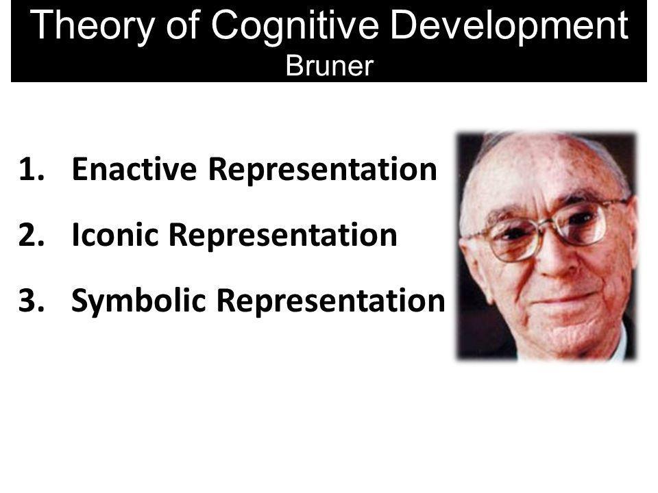 1.Enactive Representation 2.Iconic Representation 3.Symbolic Representation Theory of Cognitive Development Bruner