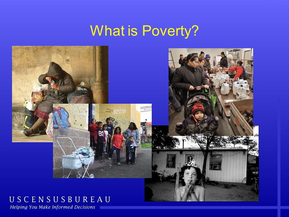 The What: Family Resource Definition Official Gross (before-tax) money income from all sources using Annual Social and Economic Supplement of the Current Population Survey (CPS) Supplemental Gross money income (CPS): PLUS value of near-money federal in-kind benefits for FCSU (e.g., SNAP, housing subsidies) and tax credits (EITC).