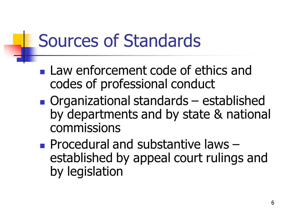 7 Why are Ethical Standards an Issue.
