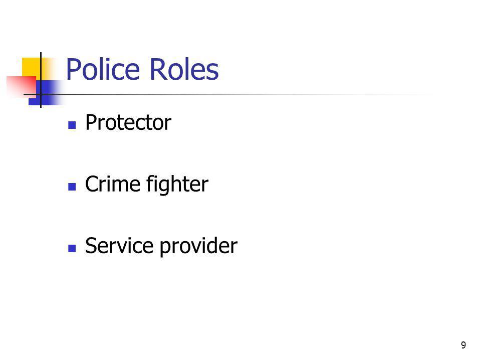 9 Police Roles Protector Crime fighter Service provider