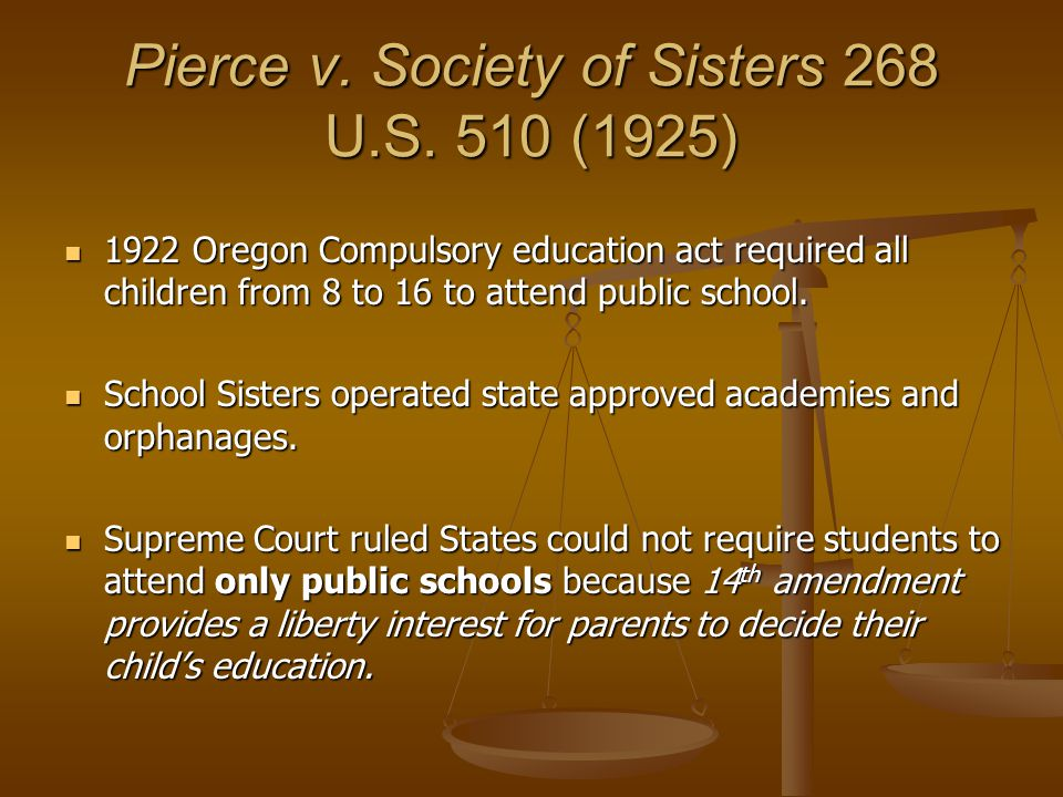 Pierce v. Society of Sisters 268 U.S.