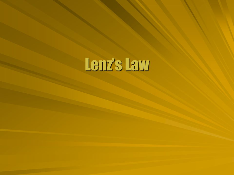 Minus Sign There is a minus sign in Faradays Law.There is a minus sign in Faradays Law.