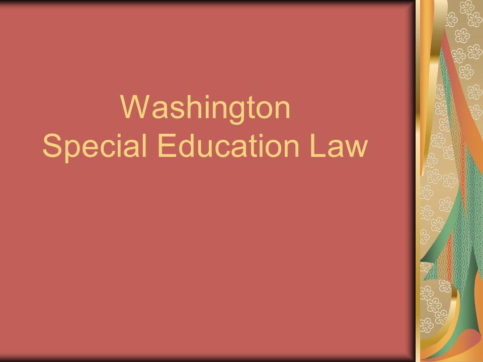 Washington Special Education Law