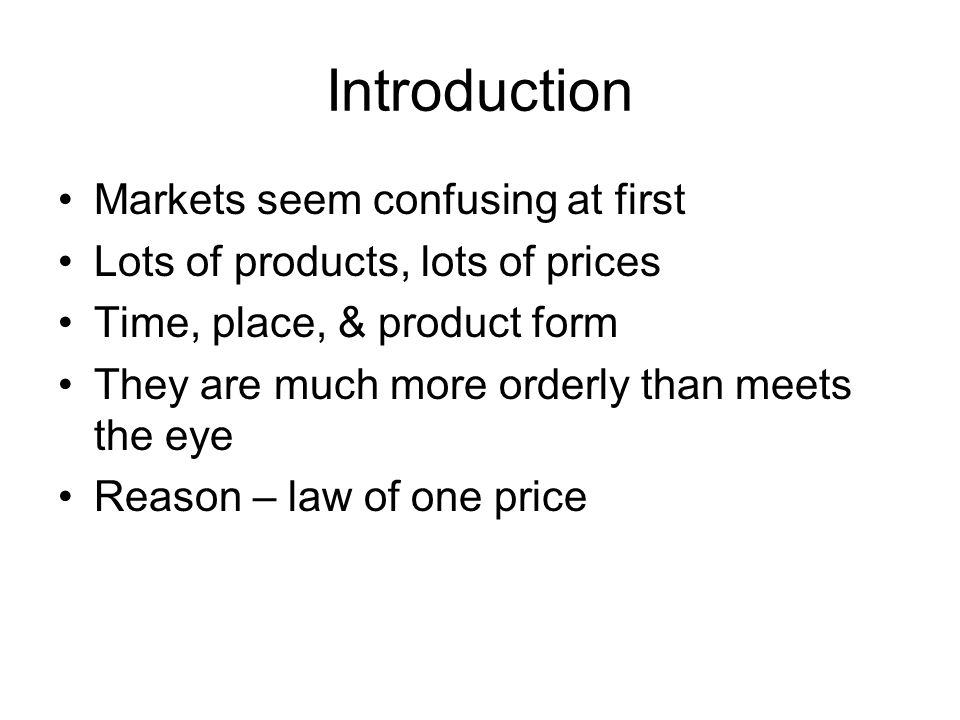 Law of One Price - The economic principle that the same item or closely equivalent items must sell for the same price or related prices in the marketplace