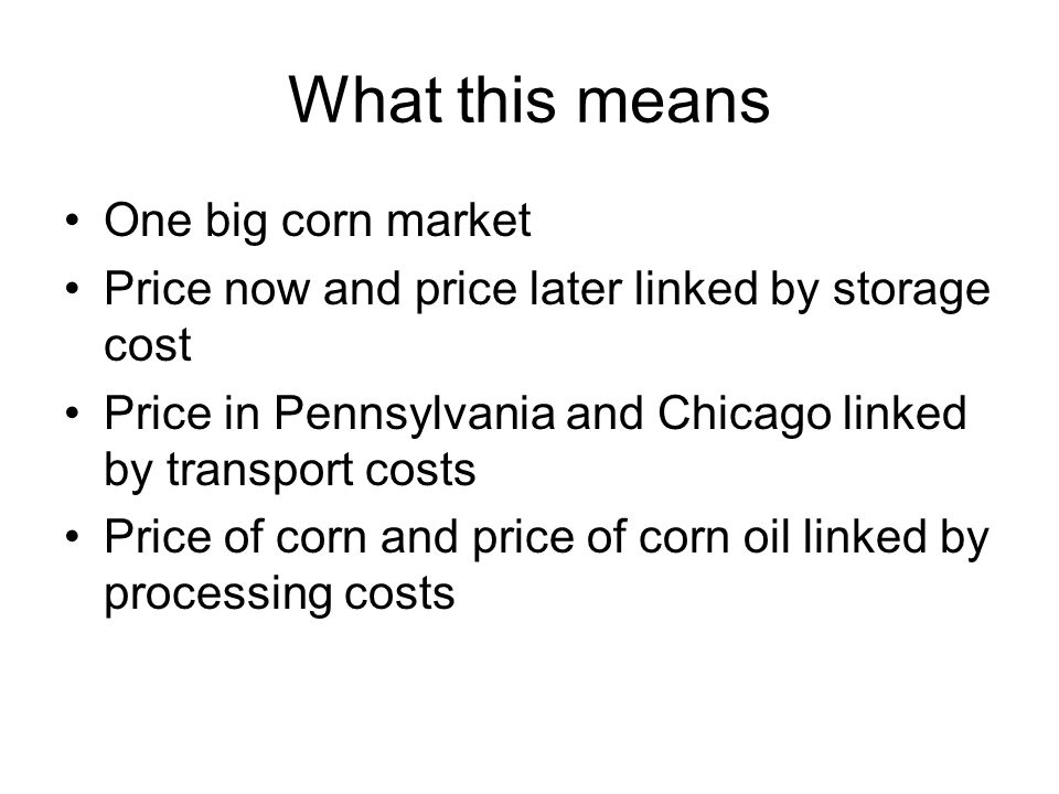 Costs and Product Characteristics Some examples.