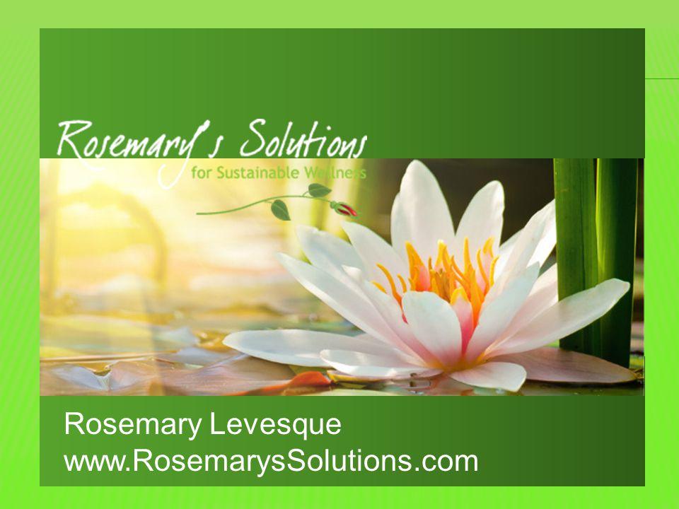 Rosemary Levesque www.RosemarysSolutions.com
