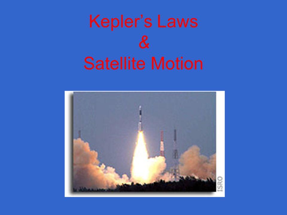 Keplers Laws & Satellite Motion