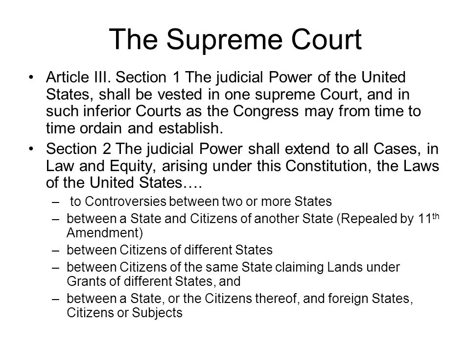 The Supreme Court Article III.