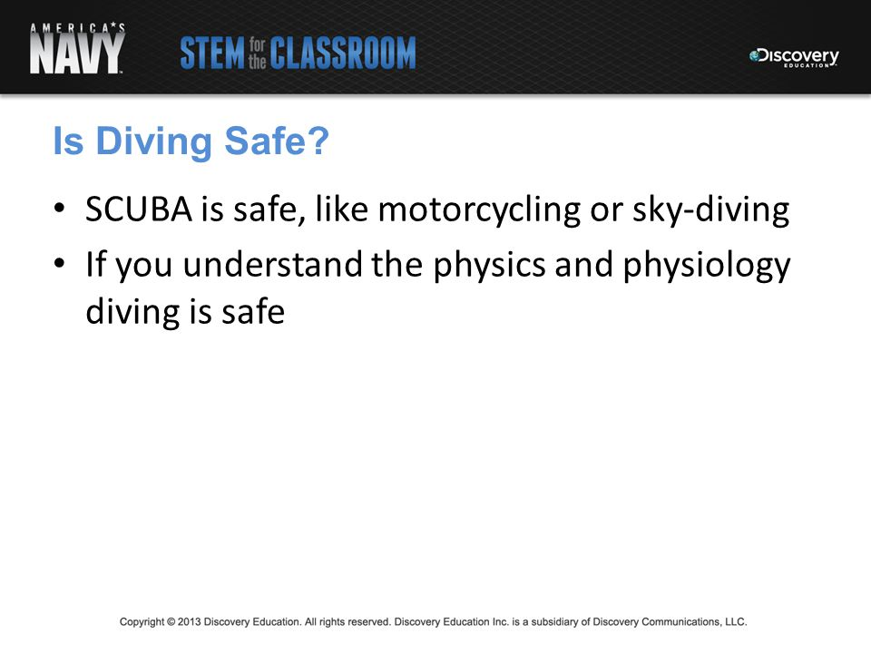 Gas Laws and Diving Essential Question: What conditions lead to perils facing divers including the bends and embolism?