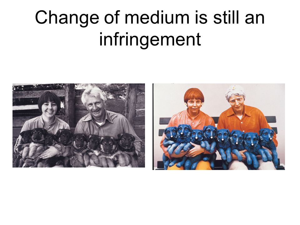 Change of medium is still an infringement