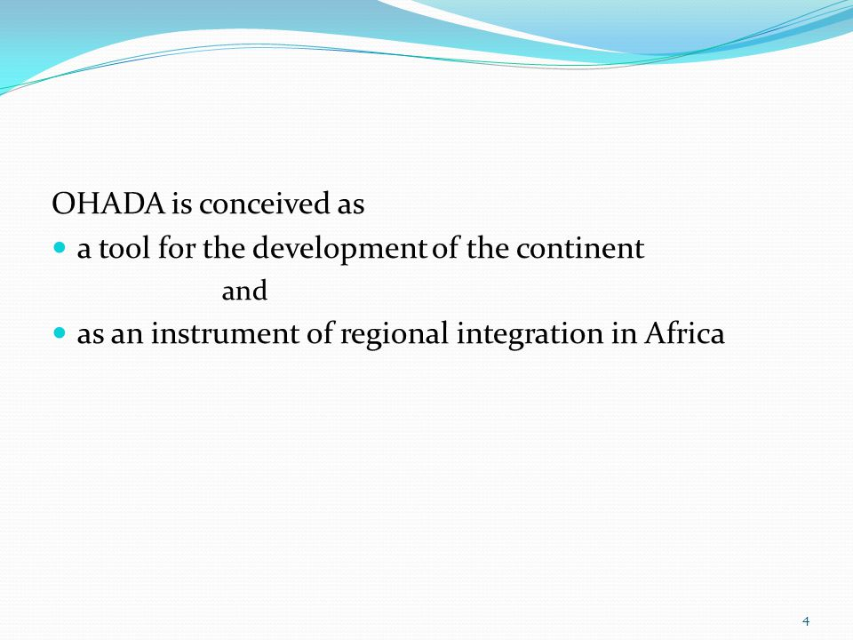II.OHADA as New L&D in Africa A. The situation before OHADA B.