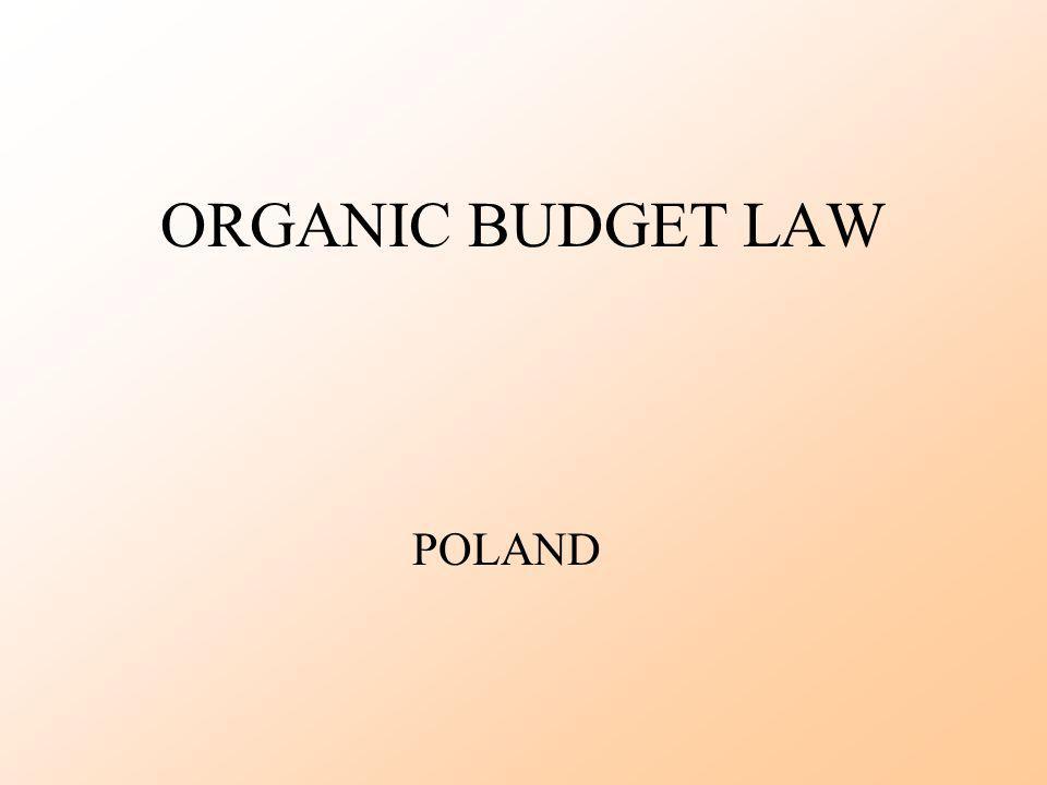 ORGANIC BUDGET LAW POLAND