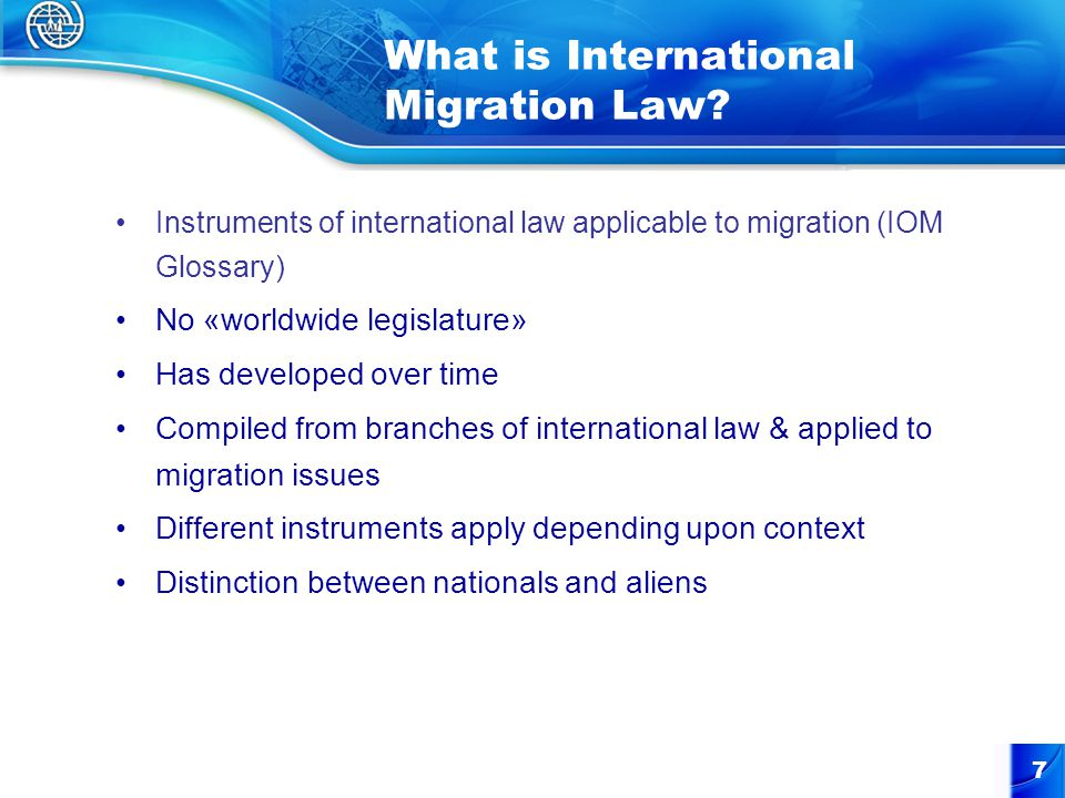 7 What is International Migration Law.