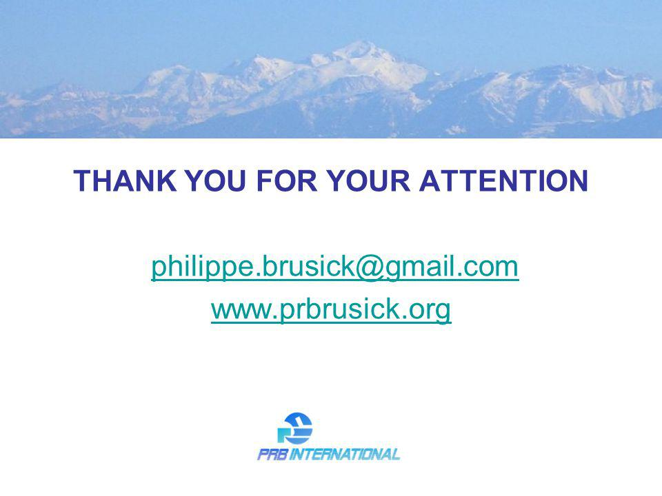 THANK YOU FOR YOUR ATTENTION philippe.brusick@gmail.com www.prbrusick.org