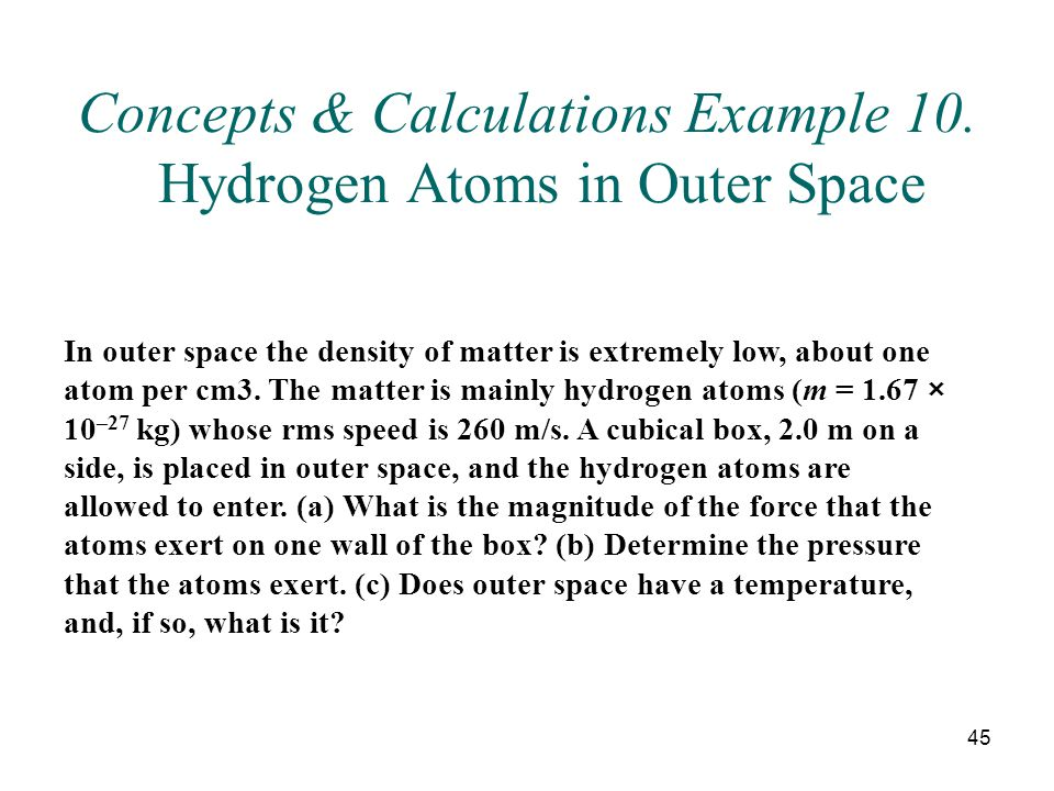 45 Concepts & Calculations Example 10.