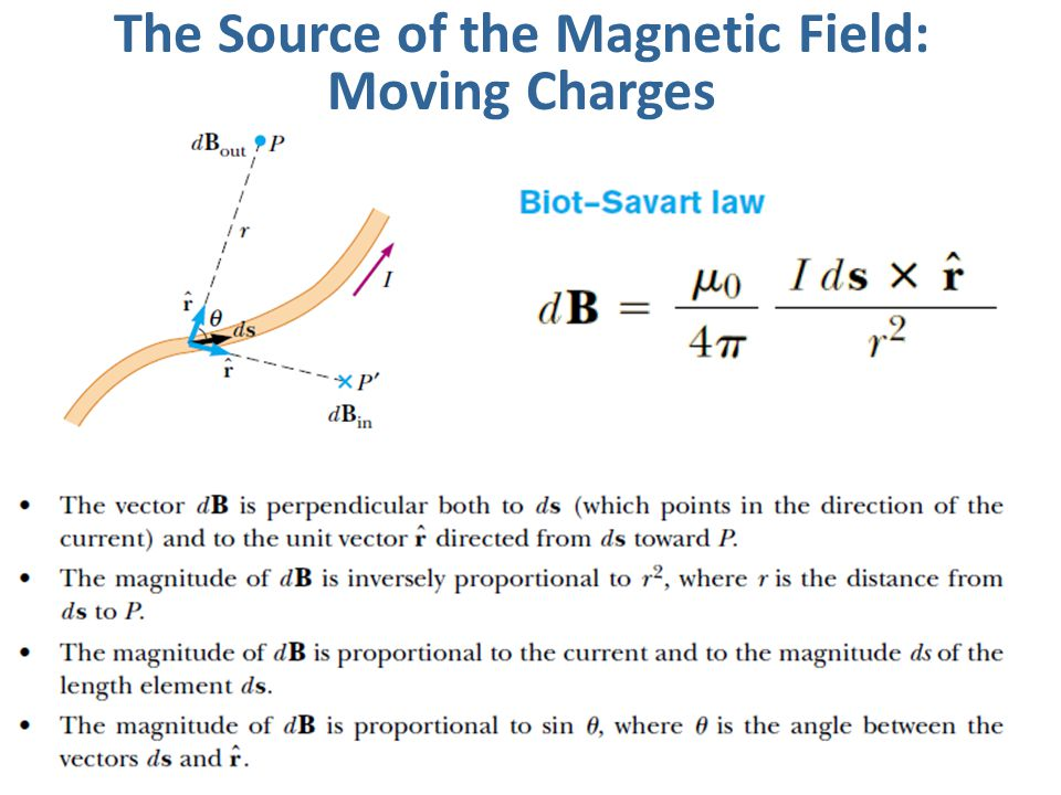 The Source of the Magnetic Field: Moving Charges