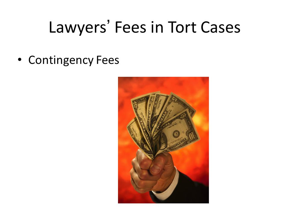 Lawyers Fees in Tort Cases Contingency Fees