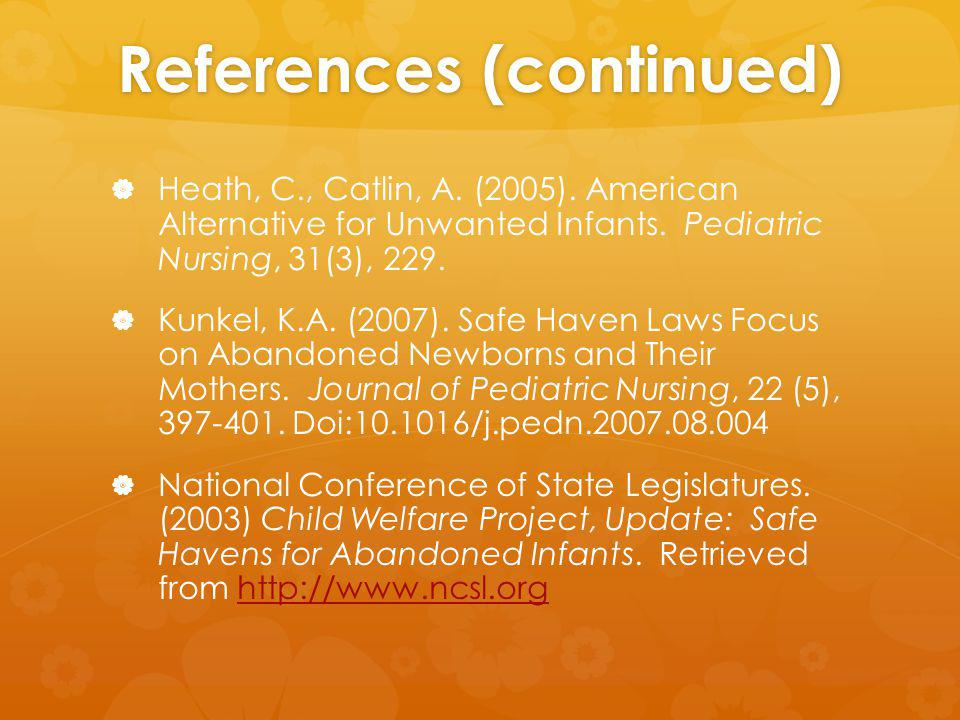 References (continued) Heath, C., Catlin, A. (2005).