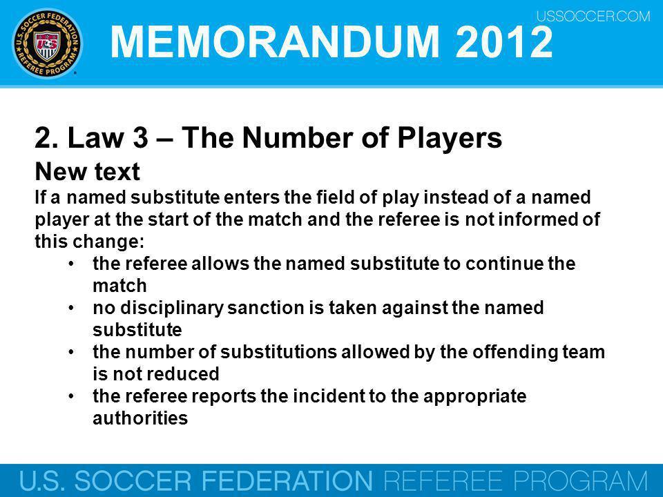 MEMORANDUM 2012 2.