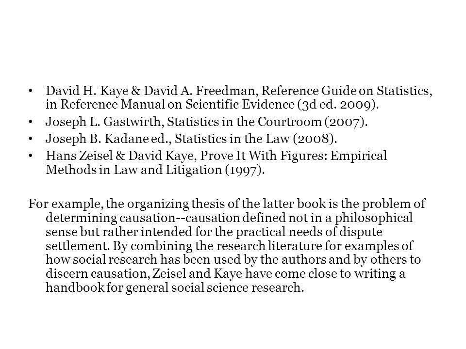 David H.Kaye & David A.